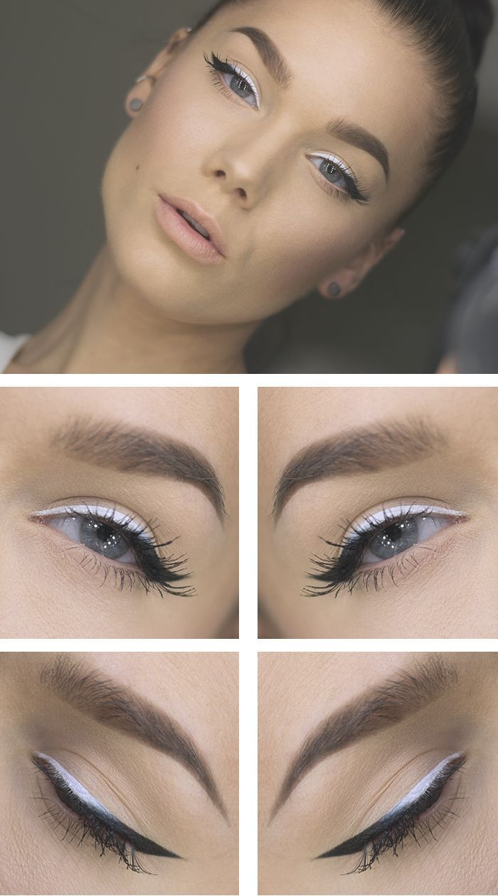 Has anyone ever tried white eyeliner on the top lid like this? I found this online and am intrigued!