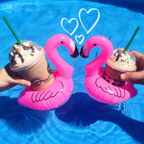 Mini Flamingo Drink & Can Holder Float // poolfloatz.com (FREE SHIPPING) $5 Off After Mailing List Signup! #poolfloat #giantpoolfloats