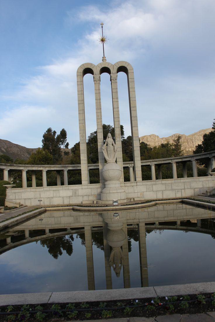 Hugenote monument, Franschoek, Suid-Afrika