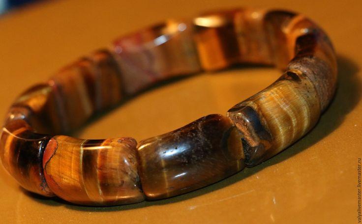 """Купить Браслет тигровый глаз натуральный-крокодилит""""ТИГР"""" - нежное украшение, недорогой подарок, красивое украшение"""