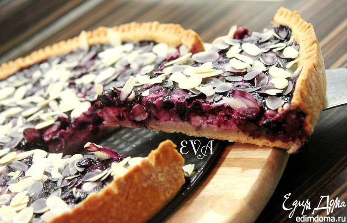 Финский черничный пирог. Очень вкусный пирог с немного хрустящим песочным коржом и сочной ягодной начинкой. #edimdoma #recipe #cookery #pie