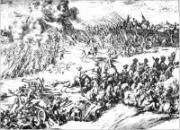 The armies faced each other throughout the morning, Ginkel studying the Irish dispositions and their dispositions gave the Irish tactical advantages