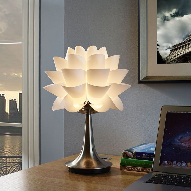 Modway glowpetal table lamp in white color