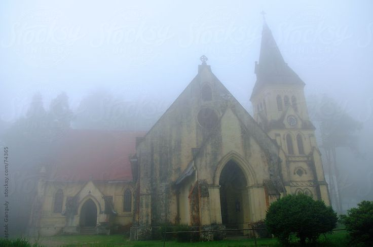 St. Andrew's Church in a foggy morning,Darjeeling by Saptak Ganguly