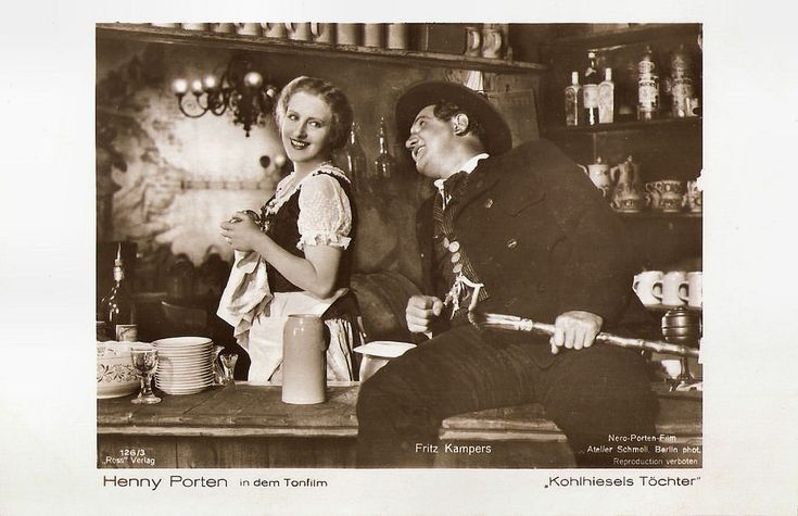 https://flic.kr/p/AkywxD | Henny Porten and Fritz Kampers in Kohlhiesels Töchter (1920) | German postcard by Ross Verlag, no 126/3. Photo: Atelier Schmoll, Berlin / Nero-Porten-Film. Publicity still for Kohlhiesels Töchter/Kohlhiesel's Daughters (Ernst Lubitsch, 1920).  Sturdy and blond Henny Porten (1890-1960) was one of Germany's most important and popular film actresses of the silent cinema. She became the quintessence of German womanhood, ladylike yet kindhearted and a not a little…