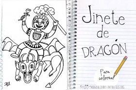 Jinete de Dragón para colorear
