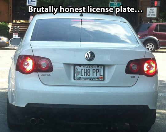 I have found the perfect license plate for me!