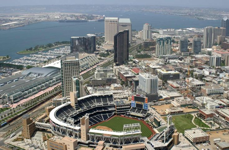 Things will be great when you're DOWNTOWN! A view of downtown San Diego and Petco Park. via welcometosandiego.com