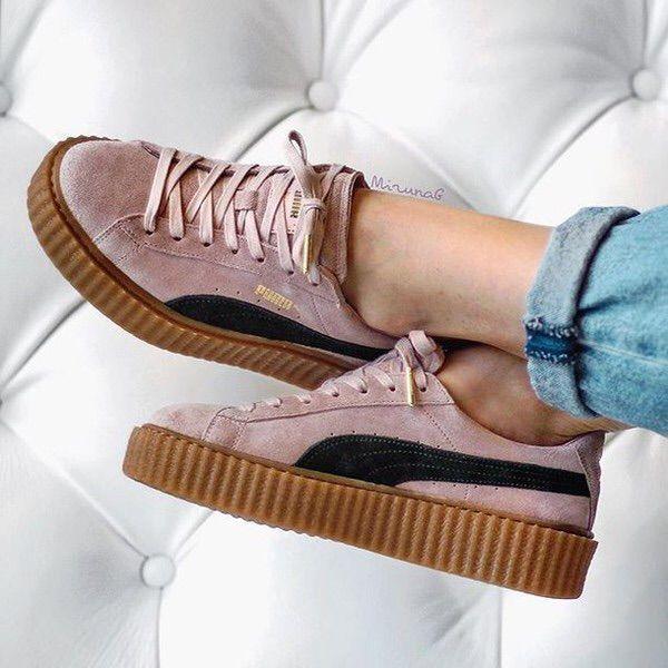 calificación Confinar Ópera  Puma Rihanna Fenty Creepers | Pink puma shoes, Puma shoes women, Puma shoes  outfit