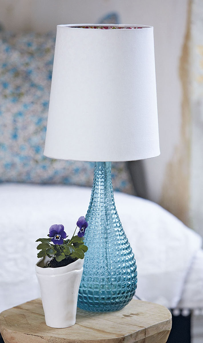 stockholm table light - such pretty blue glass!  #PinStockholm