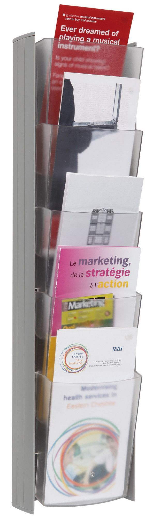 5 Pocket Wall Pamphlet Display