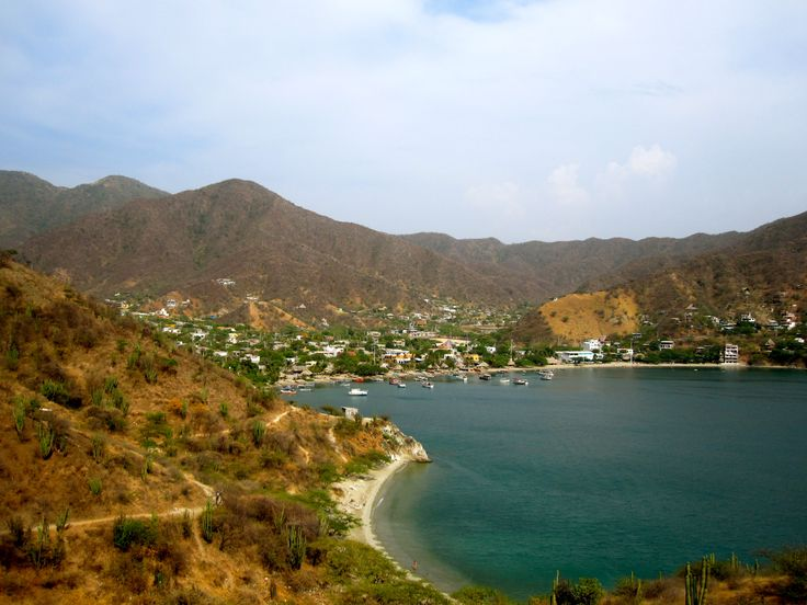 The bay around Taganga, Colombia. Taganga has become a massively popular backpacker grotto located between Santa Marta and Tyrona Park. For a real treat though, the mountain village of Minca is only a 45 minute ride away and boasts cooler temperatures, waterfalls, coffee plantations, and a much more pleasant crowd.