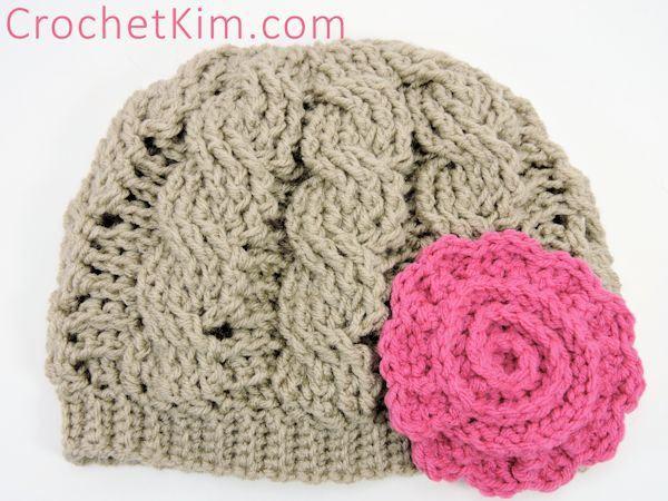CrochetKim Free Crochet Pattern   Twisty Cabled Beanie @crochetkim