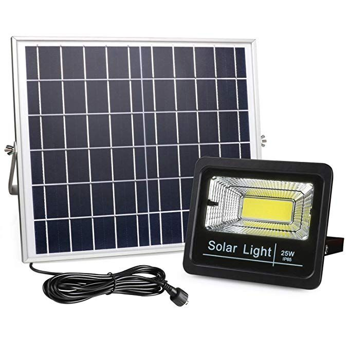 2019 New Version Solar Flood Lights Outdoor Dusk To Dawn Awanber 1100 Lumens 3 Optional Modes Led Remote Control Solar Security Lighting Fixture For Garden Ga Solar Flood Lights Flood Lights Security Lights