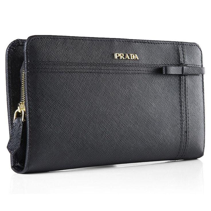 Prada Black Original Calfskin Leather Wallet          $139.00