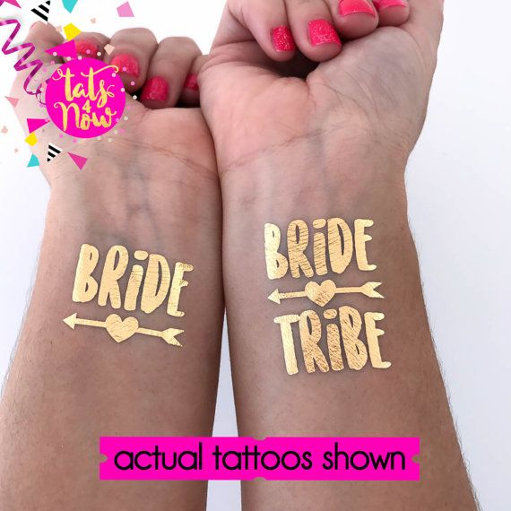 Bachelorette Tattoo // Bride Tribe Tattoo // by Tats4now on Etsy