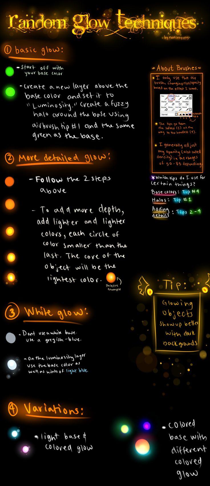 Random Glow Techniques Tutorial by TheFireGypsy.deviantart.com on @deviantART