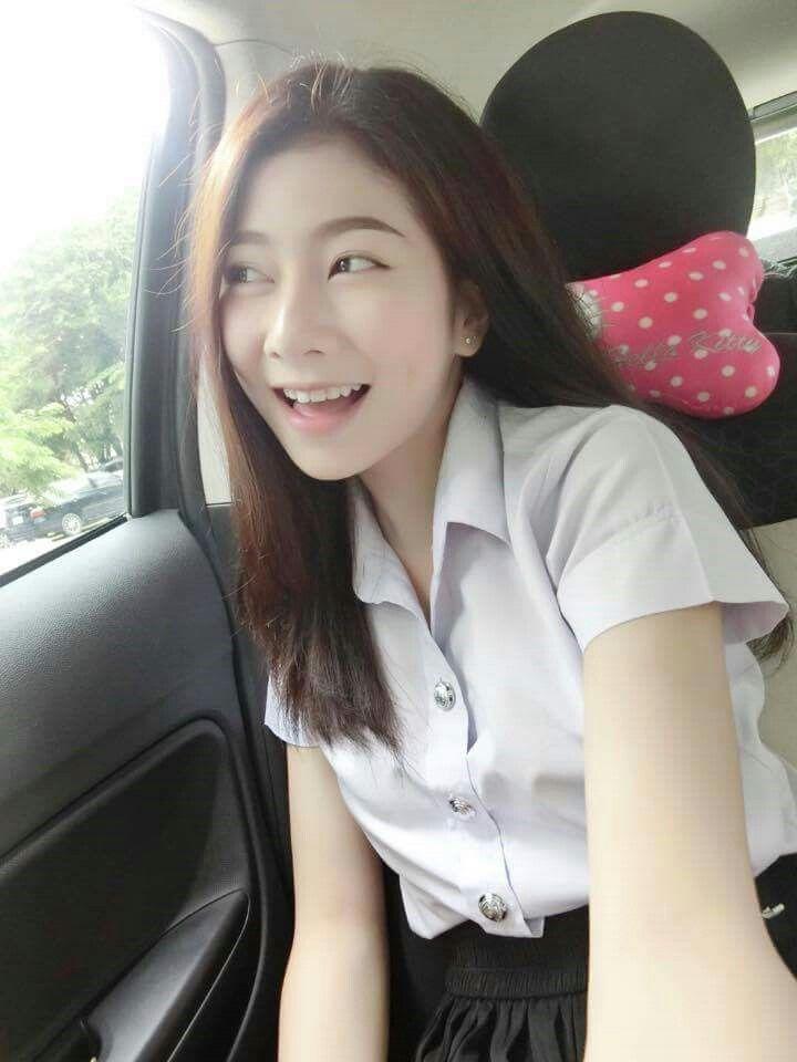 thailand student uniform cute girl nickname milk