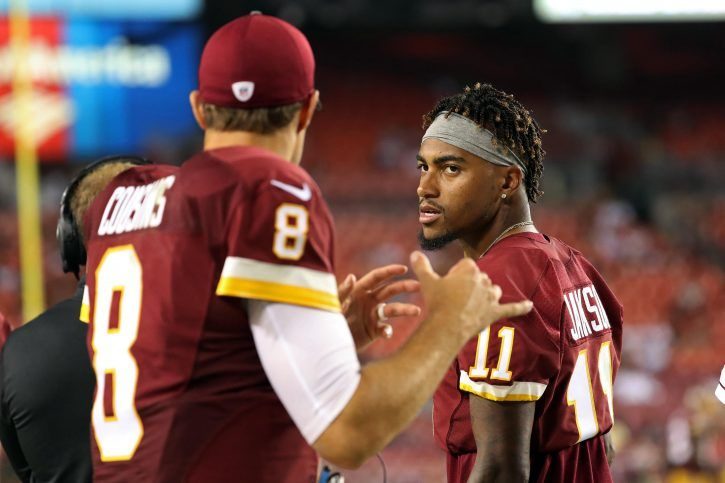 JAY GRUDEN SAYS KIRK COUSINS SHOULD NOT WORRY ABOUT DESEAN JACKSON'S 'STAT NUMBERS'