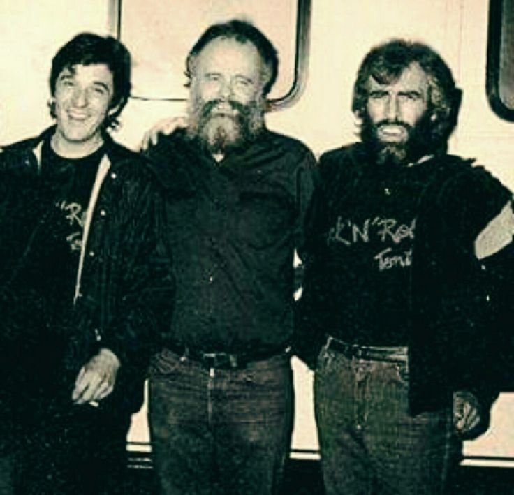"Rick Danko, Garth Hudson, and Richard Manuel after performing on the short-lived television show Rock 'N' Roll Tonite in 1983. Richard's face is like ""WTF???"" (Photographer: David Gans)"