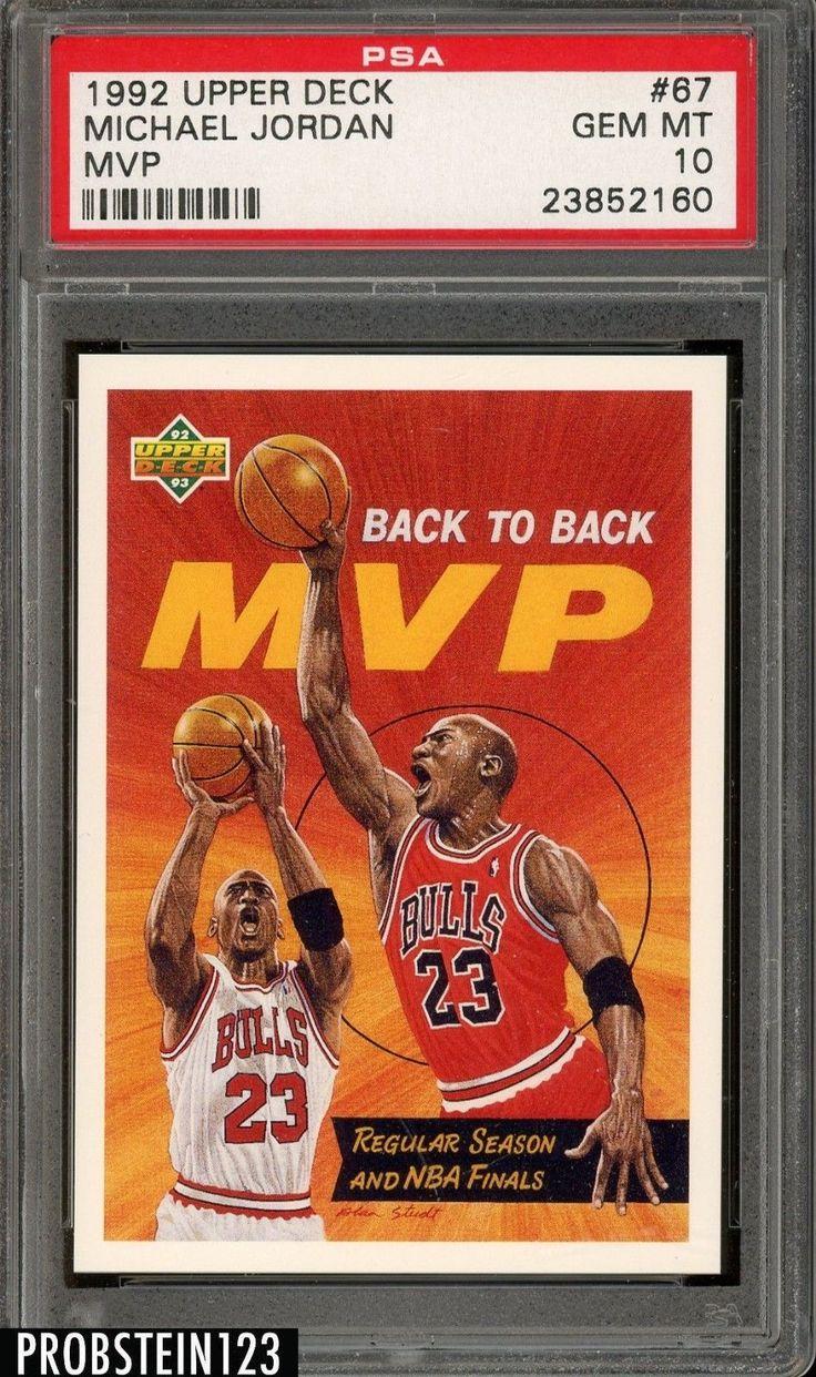 1992 upper deck mvp 67 michael jordan chicago bulls hof