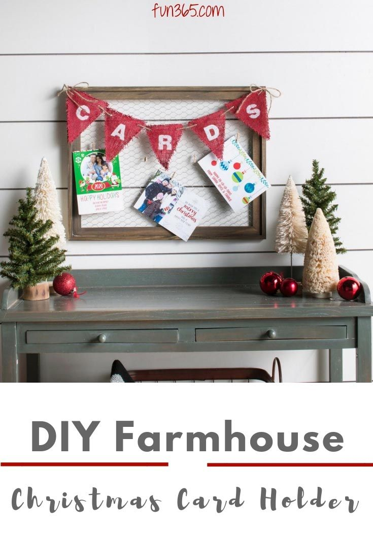 Organize your Christmas cards this year with this farmhouse card ...