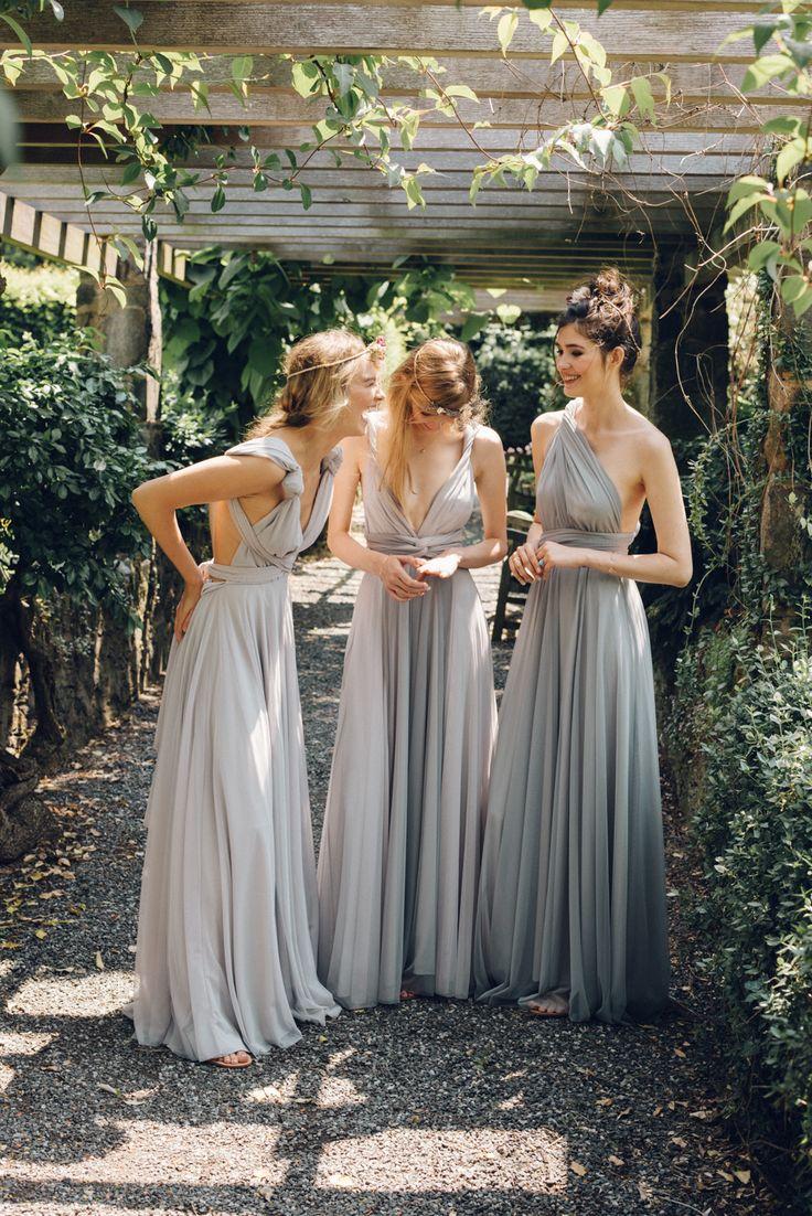25 ide terbaik silver grey bridesmaid dresses di pinterest cloud tulle ombre dovecloud tulle dove tulle grey silver twobirds ombrellifo Choice Image