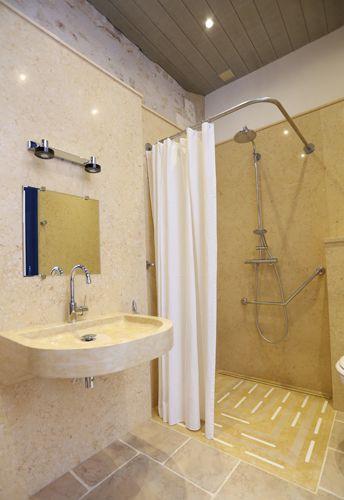 17 meilleures id es propos de salle de bains pour for Plan douche a l italienne
