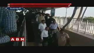 IT Minister KTR and Governor Narasimhan Travel in Hyderabad Metro Rail