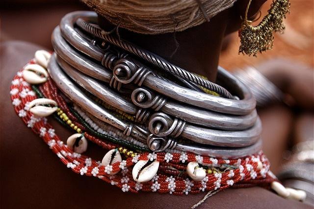 India ~ Orissa | Details of the necklaces worn by Bonda Women | © brcndmr on Flickr