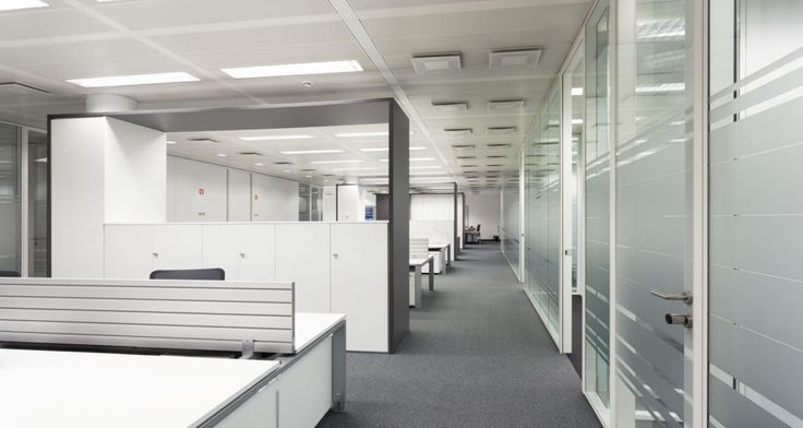Open space into the offices of Stanley Security in Lisbon, Portugal