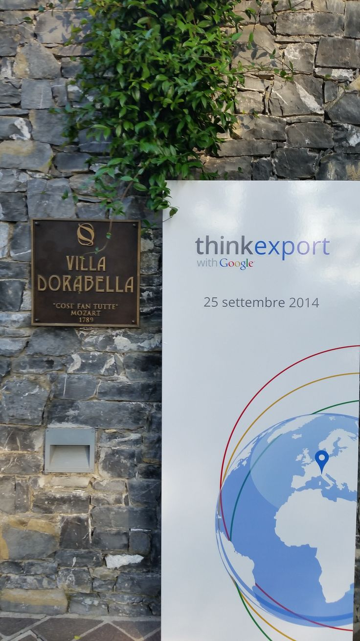 Think Export with Google @CastaDivaComo September 25th