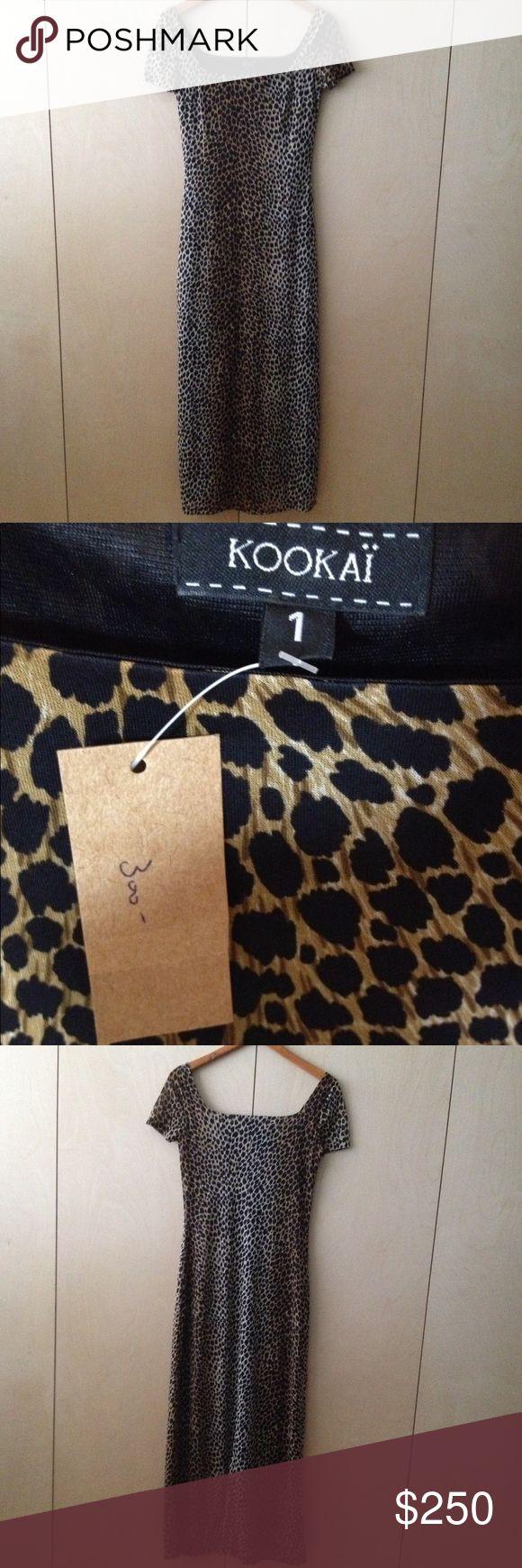 kookai leopard maxi dress long 1 or 34 animal NWT kookai leopard maxi dress long looks like it is marked size 1 or 34  but fits size 4 animal print. New with Tags. Kookai Dresses Maxi