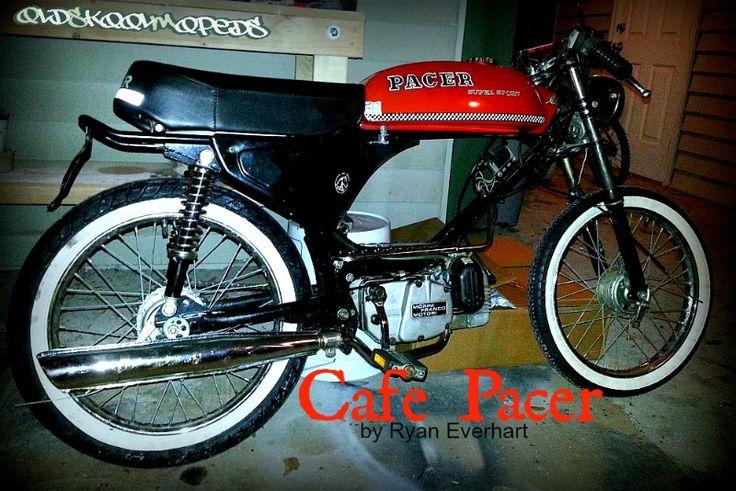 Vintage 50cc Moped Cafe Racer