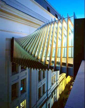 The Bridge at the Royal Ballet School, London | Wilkinson Eyre Architects | angelamckenziedesign.blogspot.com.au