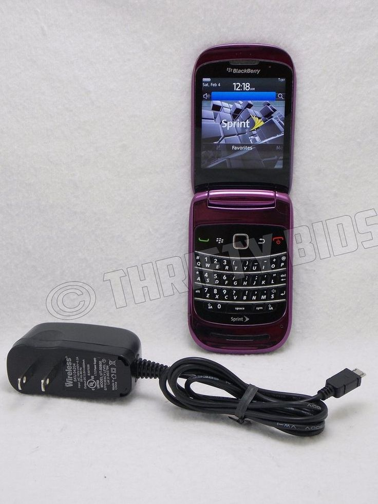 BlackBerry Style 9670 Purple Sprint Smartphone with F-M1 Clean ESIN #BlackBerry #Flip