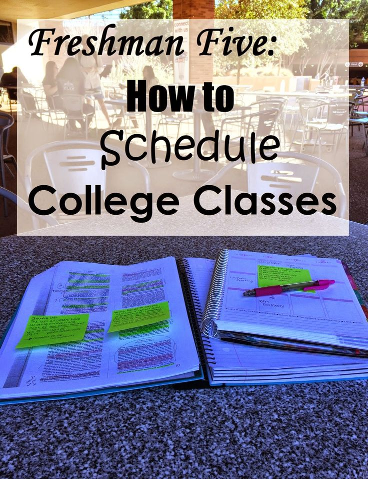 Southwest Prep: Freshman Five: How to Schedule College Classes