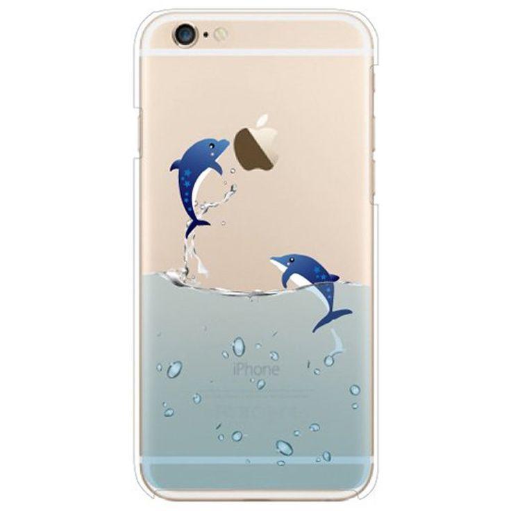 Funda para iPhone 5 5S, Case Cover para iPhone 5 5S, ISAKEN Crystal View Ultra Slim Carcasa de Silicona TPU con Diseño Resistente a Arañazos Trasera Bumper Protección Case Cover Funda Cascara para Apple iPhone 5 5S (Salto Pingüino) - Electrónica - Amazon.es