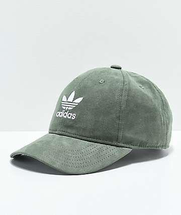 2672d1eb adidas Women's Original Base Green Suede Strapback Hat   closet ...