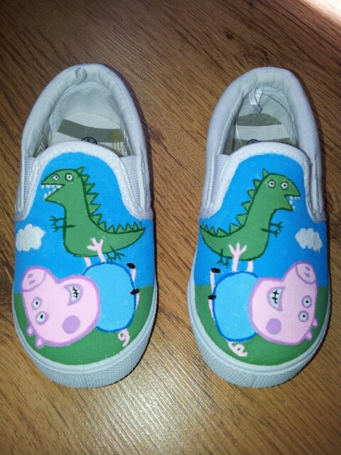 48d9f3e56f1 George and Mr Dinosaur painted shoes Isaiah would love these ...