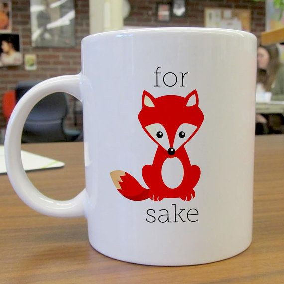 Gift custom mug / Oh For Fox Sake Mug / custom cup for by sumug