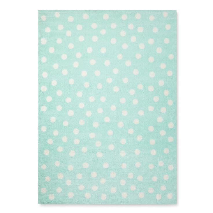 Mint (Green) Polka Dots Rug (5'x7') - Pillowfort