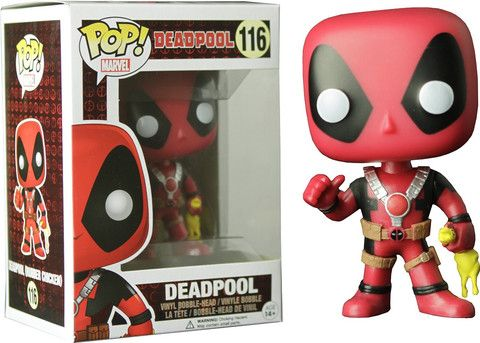 Funko Pop Marvel Deadpool Rubber Chicken Vinyl Boble Head