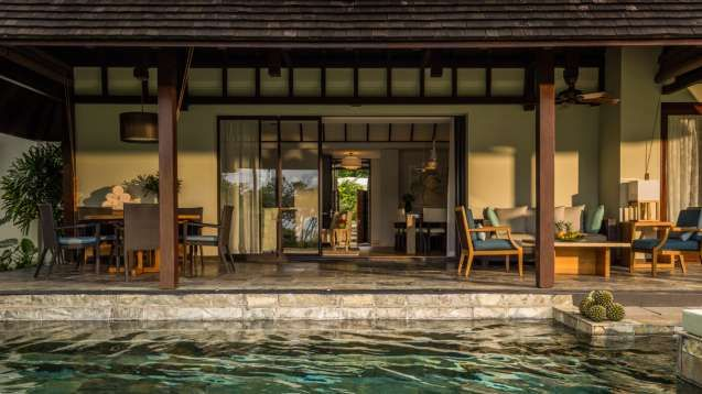 Our One-Bedroom or Two-Bedroom Residence Villa, in Mauritius, offers ample room for friends and family to experience Mauritius together, with spacious indoor and outdoor living areas and a covered patio with adjoining plunge pool.