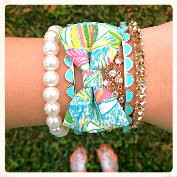 Lilly Pulitzer You Gotta Regatta Bow Bracelet by OhSoBowBracelets, $17.00
