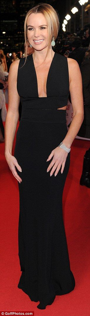 Amanda Holden, 43, dares to bare in a plunging backless gown at the National Television Awards | Daily Mail Online