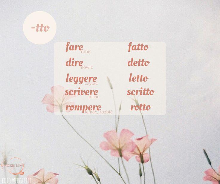 język włoski passato prossimo participio passato odmiana czasowniki nieregularne