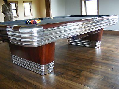 Vintage Brunswick Centennial 9 Foot Pocket Billiards Pool Table