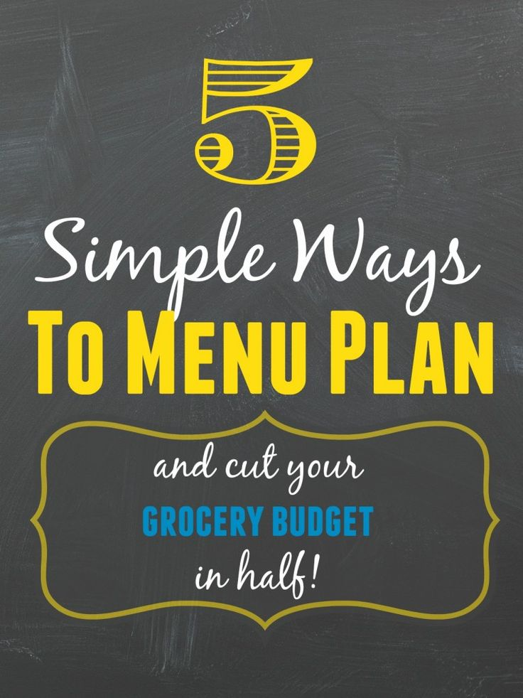 If you are struggling to meal plan, here are 5 Simple Ways to Menu Plan | via @happy1