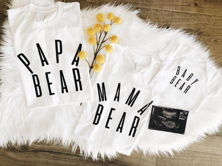 Etsy pregnancy announcement shirts.mama bear tee.papa bear tee .baby bear onesie. family t-shirts.family #affiliate